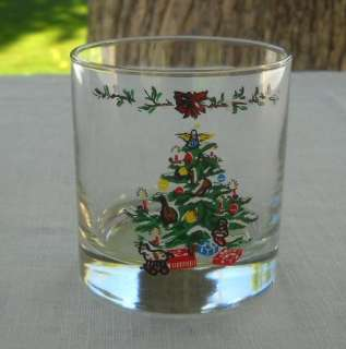 Montgomery Ward Christmas Holiday Drinking Glass Set Glasses