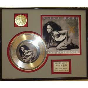 Diana Ross Ana Extended Framed 24kt Gold Record Display