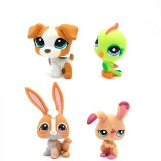 pcs Littlest Pet Shop Dog Rabbit Bunny Bird Set #2