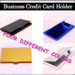 Aluminum Business ID Credit Name Card Holder Case Horizonta Various