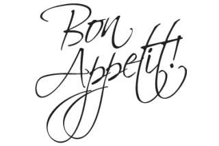 BON APPETIT KITCHEN WALL STICKER ART DECALS QUOTE