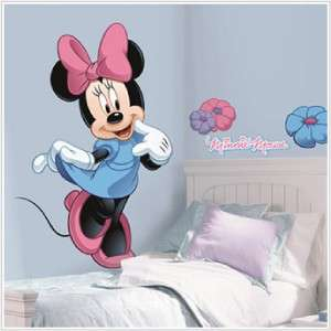 New Giant MINNIE MOUSE WALL DECAL Disney Stickers Decor 034878034898