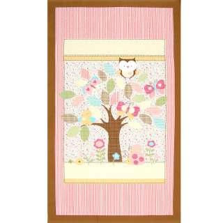 Owls~Birds~Butterflies~Ladybugs~Flowers~ Quilting fabric panel