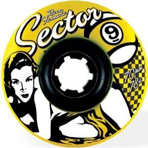 Sector 9 Race 78a 70mm Yellow Skate Wheels