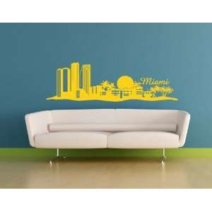 Miami Skyline   Vinyl Wall Decal