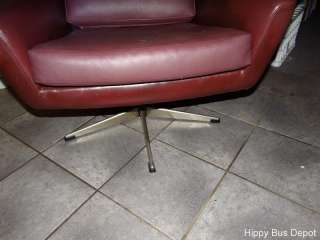 Overman PLUM Vinyl Leather LOUNGE Chair EAMES VTG FREE SHIP TOO