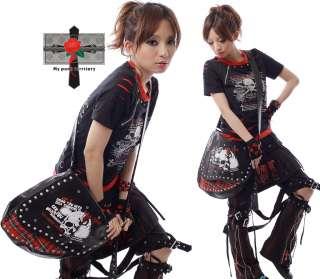 Retro Punk Cowboy Visual KILLER Horseback Moon Emo Bag
