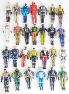 lot 5 GI JOE Cobra 3.75 Action Figure w/10 weapons