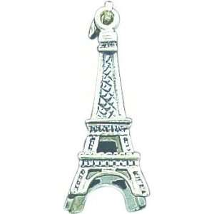 Sterling Silver Eiffel Tower Pendant Jewelry