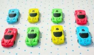 4PCS Cartoon Race Car Erasers Lovely Kid Party Gifts