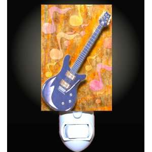 Electric Guitar on Music Notes Decorative Nightlight: Home