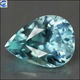 46ct  Pretty Pear  VVS  Blue Green Paraiba Tourmaline  NR