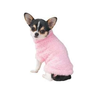 East Side Collection Fuzzy Pink Stretchy Dog Sweater
