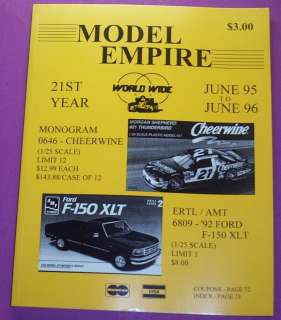 MODEL EMPIRE CATALOG 1995 96..21st YEAR..MONOGRAM, ERTL/AMT, TAMIYA