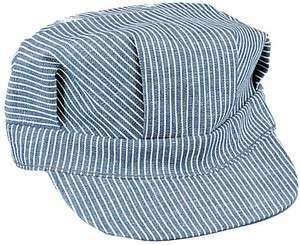 Hickory Stripe Denim Engineer Cap Railroad Hat