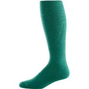 Athletic Knee Length Soccer Tube Socks DARK GREEN ADULT (TUBE SOCK