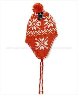 New Snowflake Design Winter Ski Trapper Beanie Hat Boy/Girl Youth Size