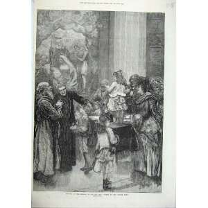1871 Festival Presepe Ara Church Capitol Rome Children