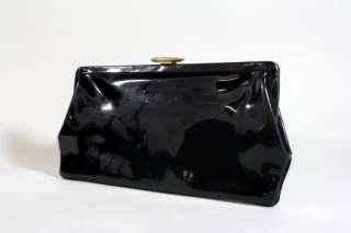 Vtg 50s/60s Etra Patent Leather Clutch Purse Bag RARE