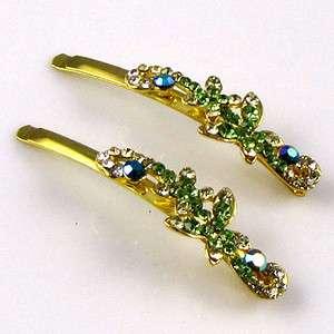 ADDL Item  2 Rhinestone crystal butterfly hair side clip