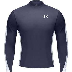 Under Armour Mens HeatGear Zone Long Sleeve Shirt Color Midnight Navy