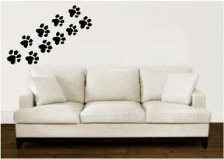 Paw Prints Animal Tracks Vinyl Wall Stickers Decals Rub