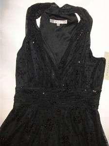 NWT Genuine EVAN PICONE black glitter dress, size 14P