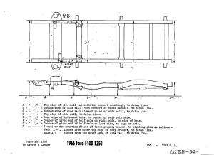 1965 Ford F100 F250 Pick Up Truck NOS Frame Dimensions