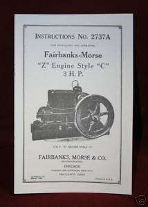 Fairbanks   Morse type Z engine style C Manual