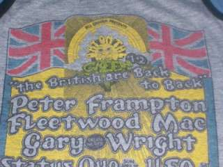 vintage PETER FRAMPTON FLEETWOOD MAC 1978 t shirt S wow