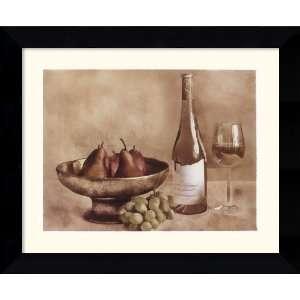 Fruit and Wine II Framed Print by Judy Mandolf Framed