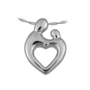 Silver Large Mother and Child® Heart Pendant Janel Russell Jewelry