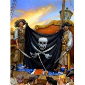 Wallpaper 4Walls Pirates and Skulls Jolly Roger KP1718PM1
