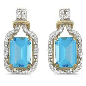 14K Yellow Gold 0.02 ct. Diamond and 7 x 5 MM Emerald Cut