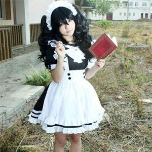 Girl Maid uniform Cosplay lolita Costume Dress Fbo