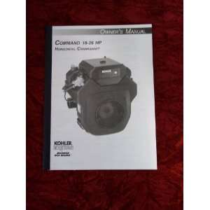 Command 18 26 HP Crankshaft OEM Owners Manual Kohler Command Books