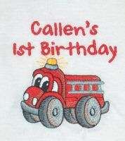 Personalized FIRE TRUCK Engine Name or Birthday T Shirt