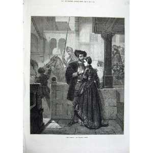 1874 Parting Man Woman Romance Wilhelm Koller Fine Art