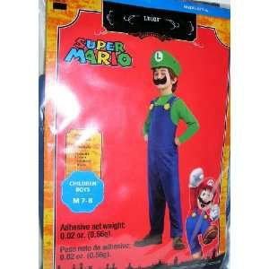 Super Mario Luigi Childs Costume Size Medium 7 8 Toys & Games