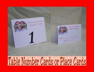 Wedding Roses Personalized Table Number or Place Cards