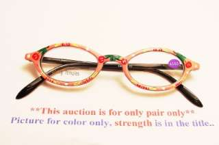 Oval Hand Painted Spring T. Reading Glasses 1.50 *R212