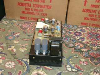 Vintage Acoustat Electrostatic Tube Amp Power supply X Speaker system