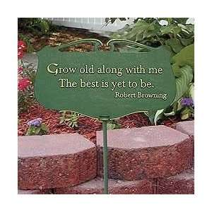 Whitehall Products 20202 Flora & Fauna Grow Old Poem