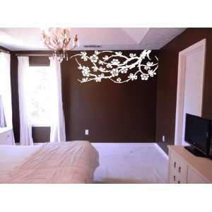 Asian Floral Branches Wall Art Decal Sticker