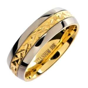 Titanium Wedding Ring Band Comfort Fit 7mm Size 4 Metals Jewelry