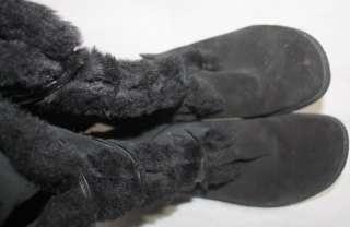 WOMEN BLACK LEATHER UPPER BOOTS  EARTH ORIGINS SIZE 11