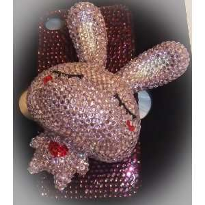 Handmade Crystal 3D Rabbit (Pink) Iphone 4/4s Case + Screen Protector