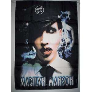 MARILYN MANSON Cloth POSTER Textile Flag HUGE 5x3 Ft NEW