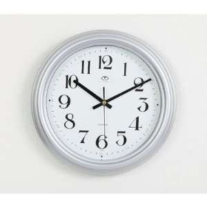 Maples Clock S9001 13 Silver Color Framed Wall Clock