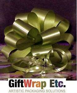 10 MOSS OLIVE GREEN GIFT BASKET PULL BOW WEDDING RIBBON